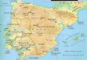 Detailed Map Of East Coast Of Spain.Gordon Doherty S Visit To Roman Spain In Search Of Ancient Ruins